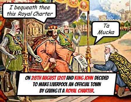 King John 1207 Charter Medieval Liverpool