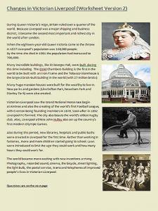 Victorian Liverpool Teaching Resources