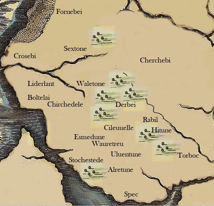 Map of The West Derby Hundred